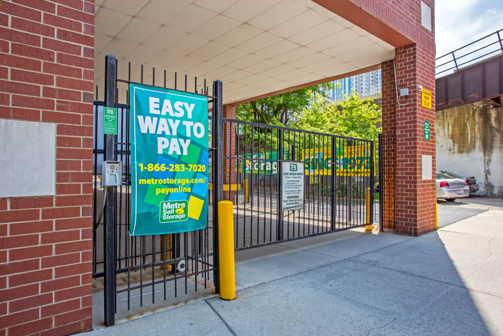 Gated entrance at Metro Self Storage in Chicago, IL