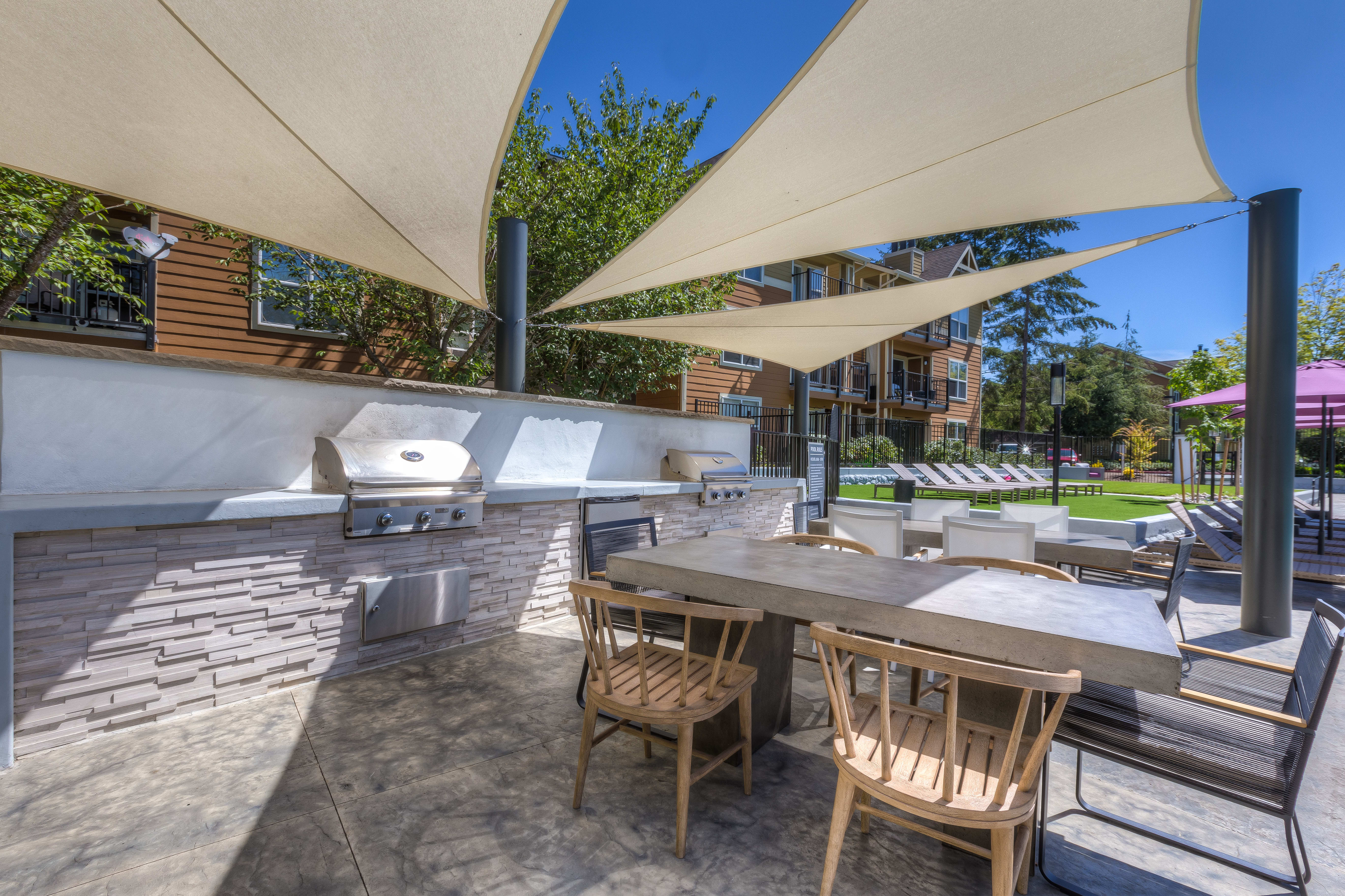 Outdoor BBQ's at Centro Apartment Homes