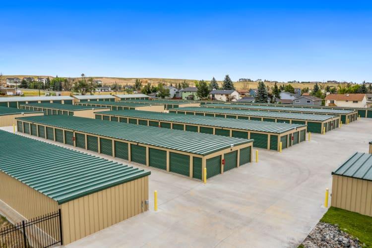 Outside units at Storage Star Cheyenne in Cheyenne, Wyoming