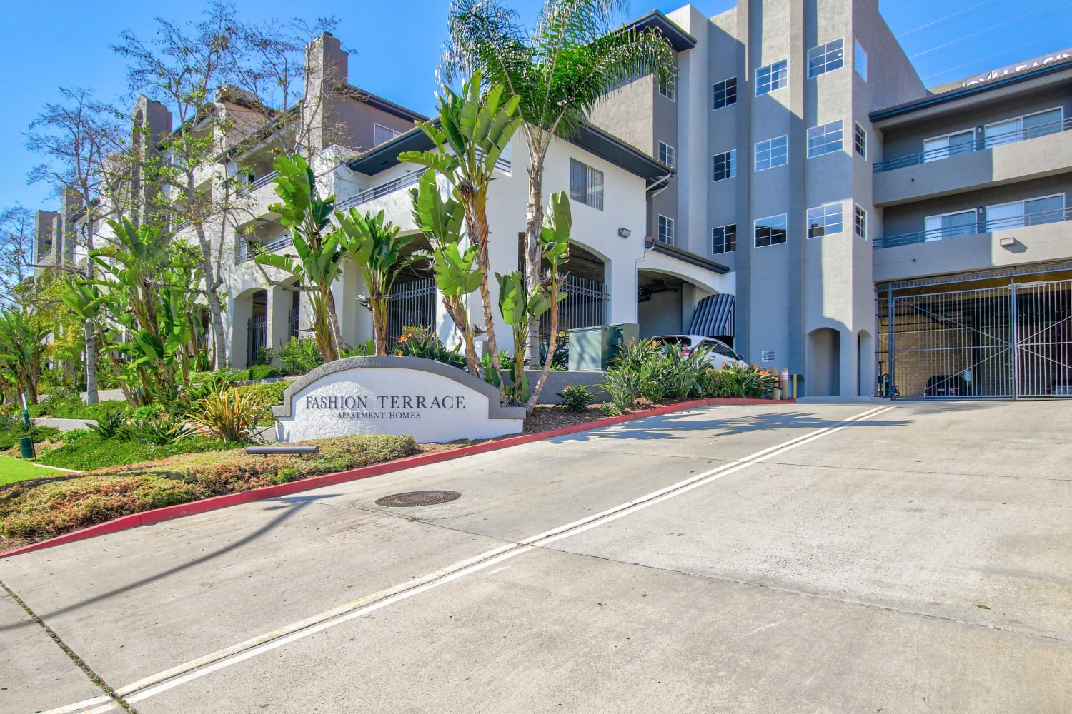 Driveway at Fashion Terrace in San Diego, California