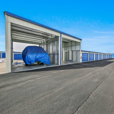 A covered parking space at Storage Star Fairfield in Fairfield, California