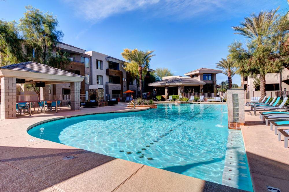 Beautiful swimming pool at Spectra on 7th South in Phoenix, Arizona