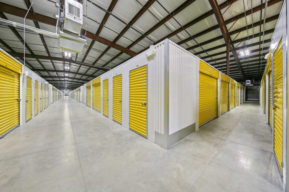 Climate controlled storage units at Storage Star Red Bluff in Pasadena, Texas