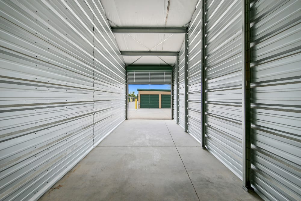 An open climate controlled unit at Storage Star Cheyenne in Cheyenne, Wyoming