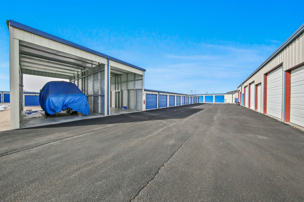 Covered parking spaces at Storage Star Fairfield in Fairfield, California