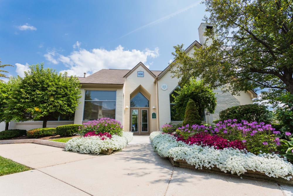 Leasing center at Briar Cove Terrace Apartments in Ann Arbor, Michigan