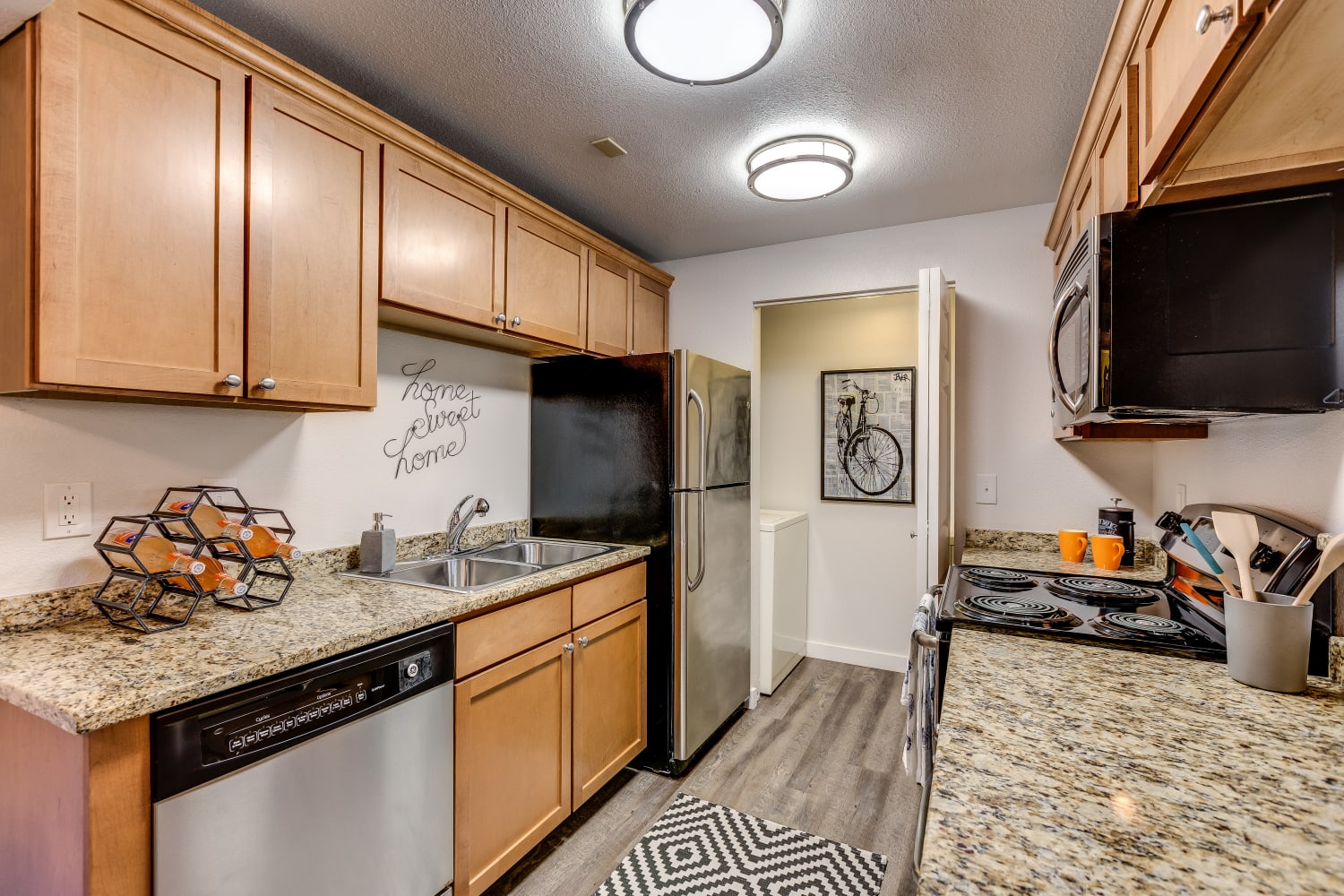 Updated kitchen at The Preserve at Forbes Creek in Kirkland, Washington