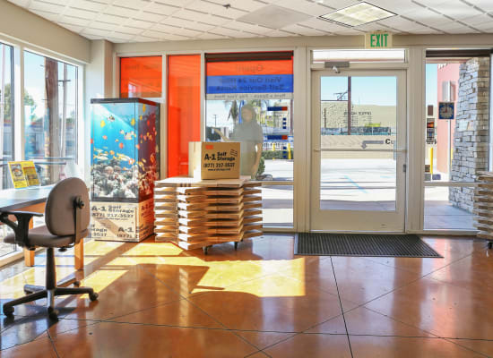 Leasing office at A-1 Self Storage in North Hollywood, California