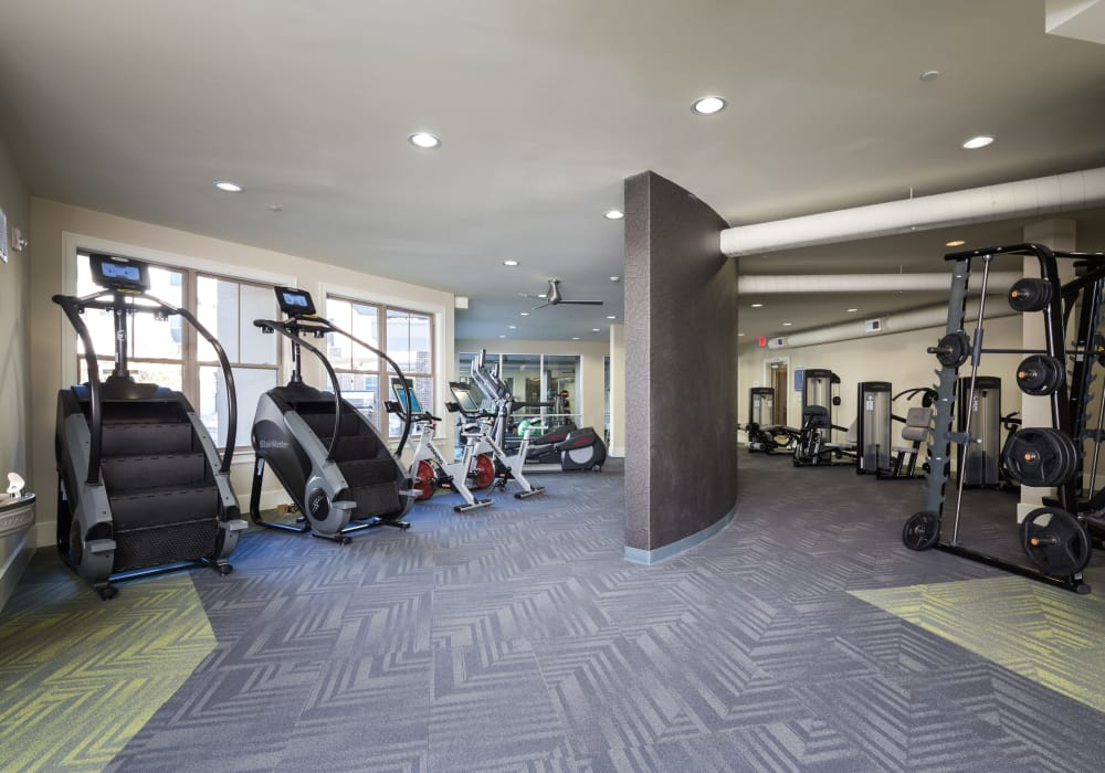 Fitness center at One Metrocenter in Nashville, Tennessee