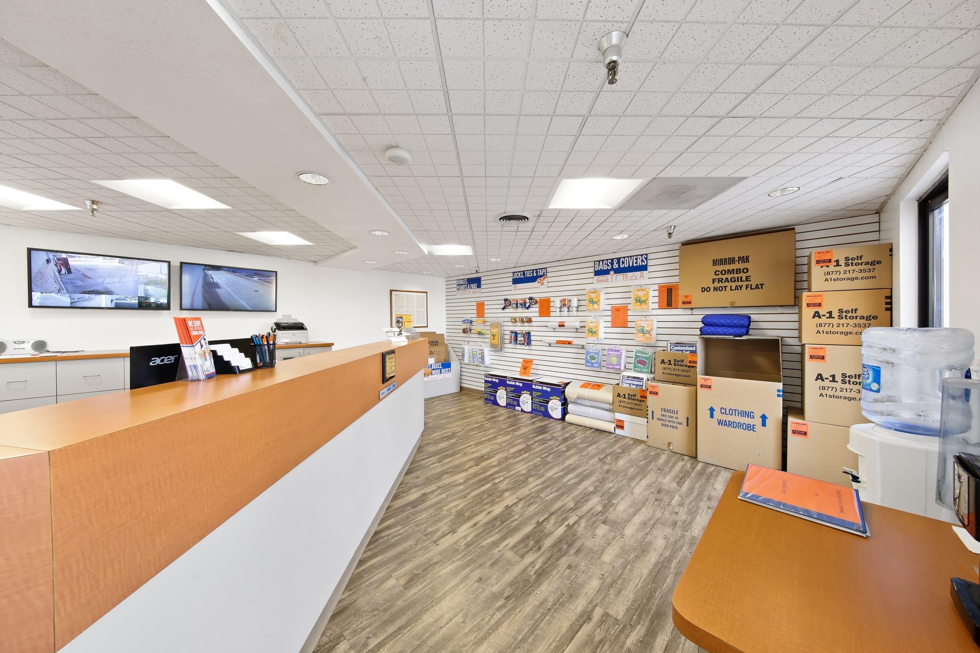 The office at A-1 Self Storage in La Mesa, California