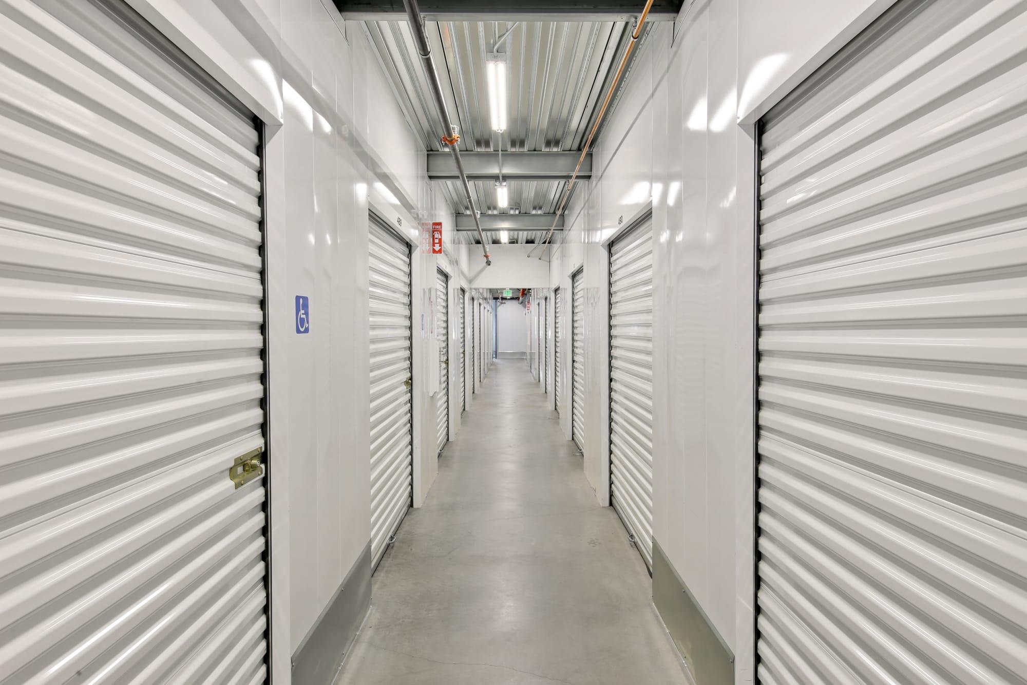Interior units at A-1 Self Storage