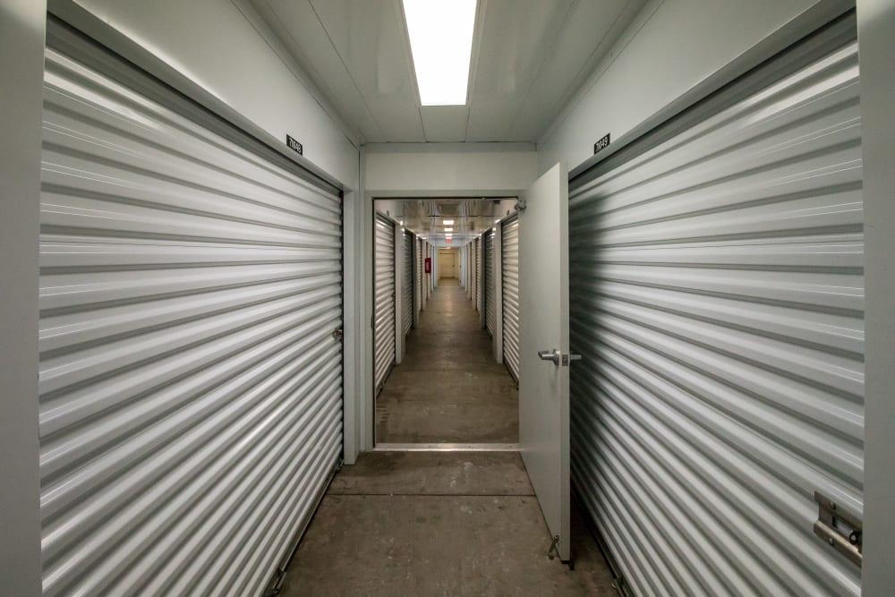 Interior storage units at Neighborhood Storage in Belleview, Florida