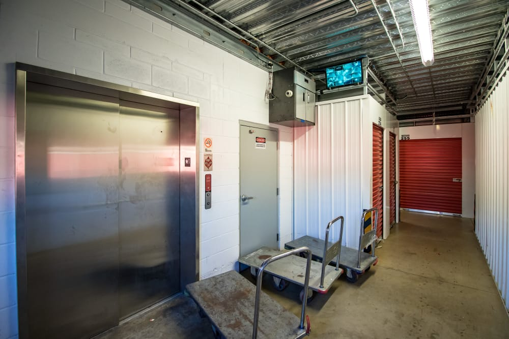 Neighborhood Storage elevator and interior storage units in Ocala
