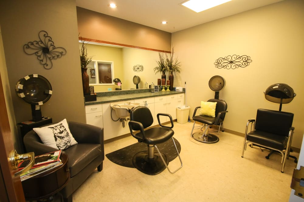 Resident styling salon at Liberty Court in Dixon, Illinois.