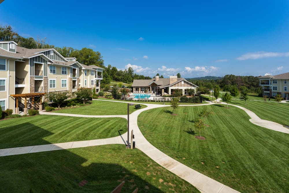 Outstanding landscaping at The Preserve at Hardin Valley in Knoxville, Tennessee