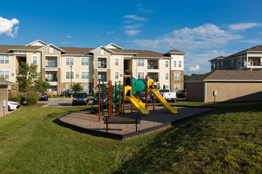 Playground area on site at The Preserve at Hardin Valley in Knoxville, Tennessee