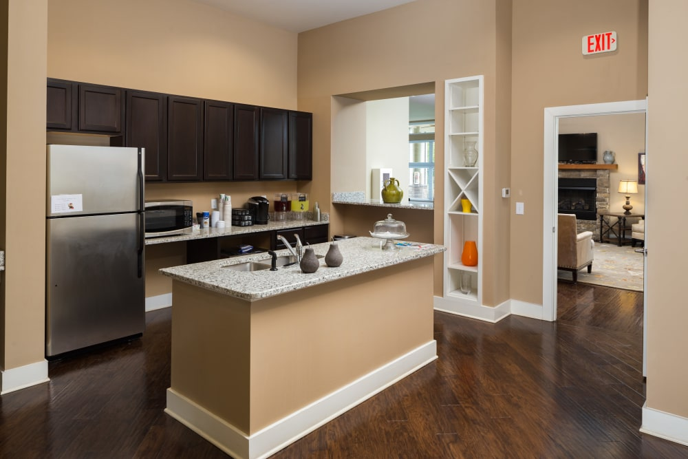 Model kitchen area at The Preserve at Hardin Valley in Knoxville, Tennessee