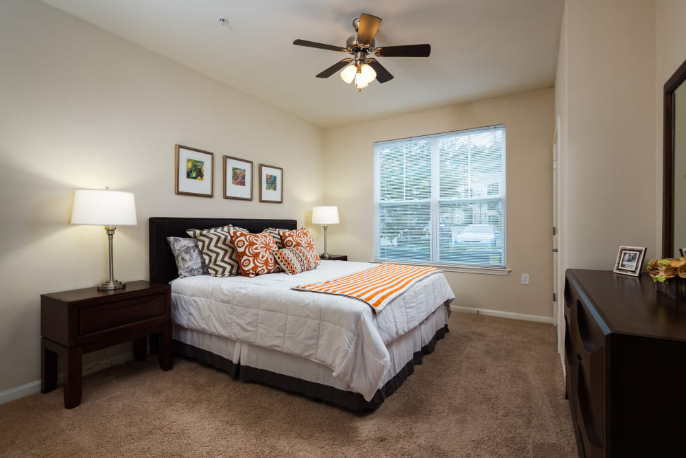 Model bedroom at The Preserve at Hardin Valley in Knoxville, Tennessee