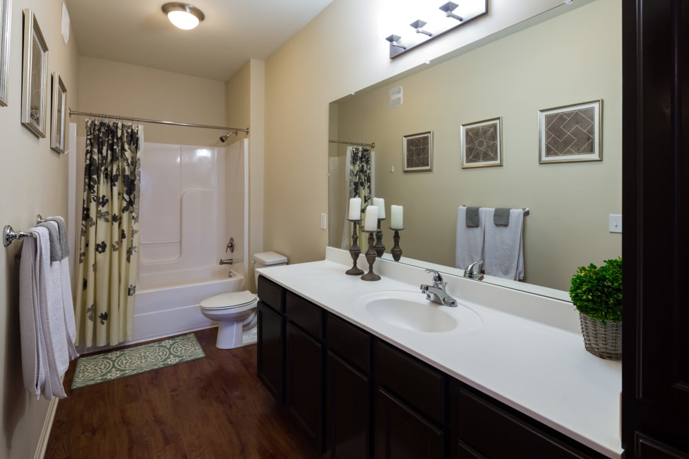Model bathroom at The Preserve at Hardin Valley in Knoxville, Tennessee