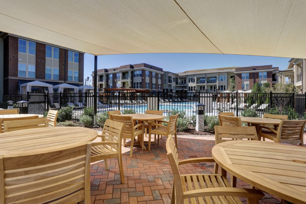 Outdoor patio at Novel Bellevue in Nashville, Tennessee