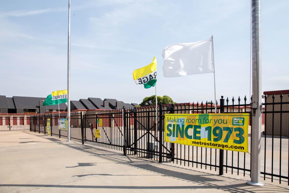 Fully fenced property at Metro Self Storage in Amarillo, Texas