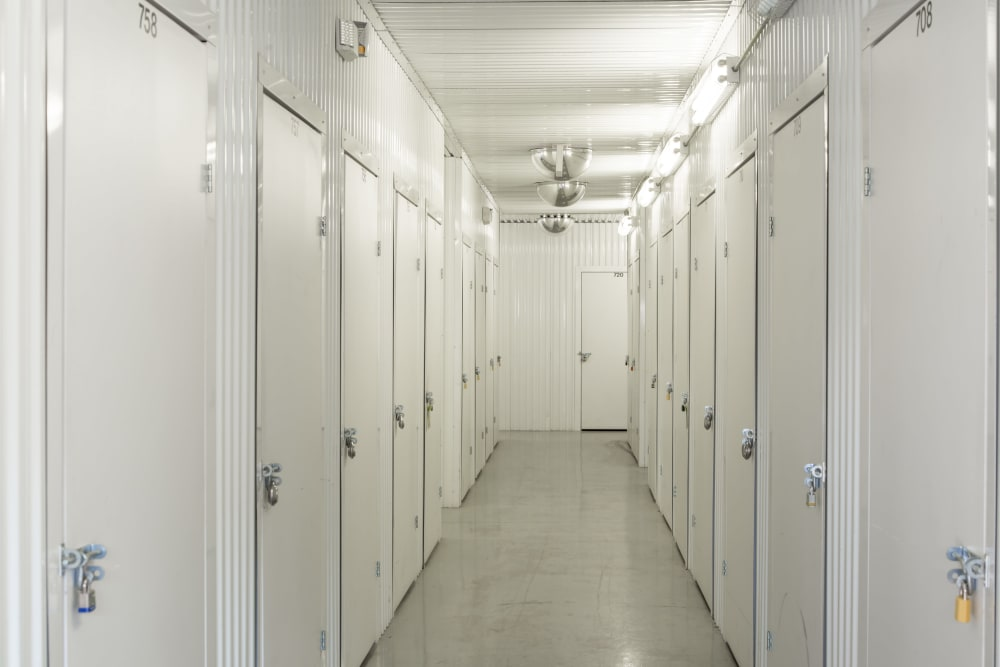 Indoor units hallway at Metro Self Storage in Amarillo, Texas