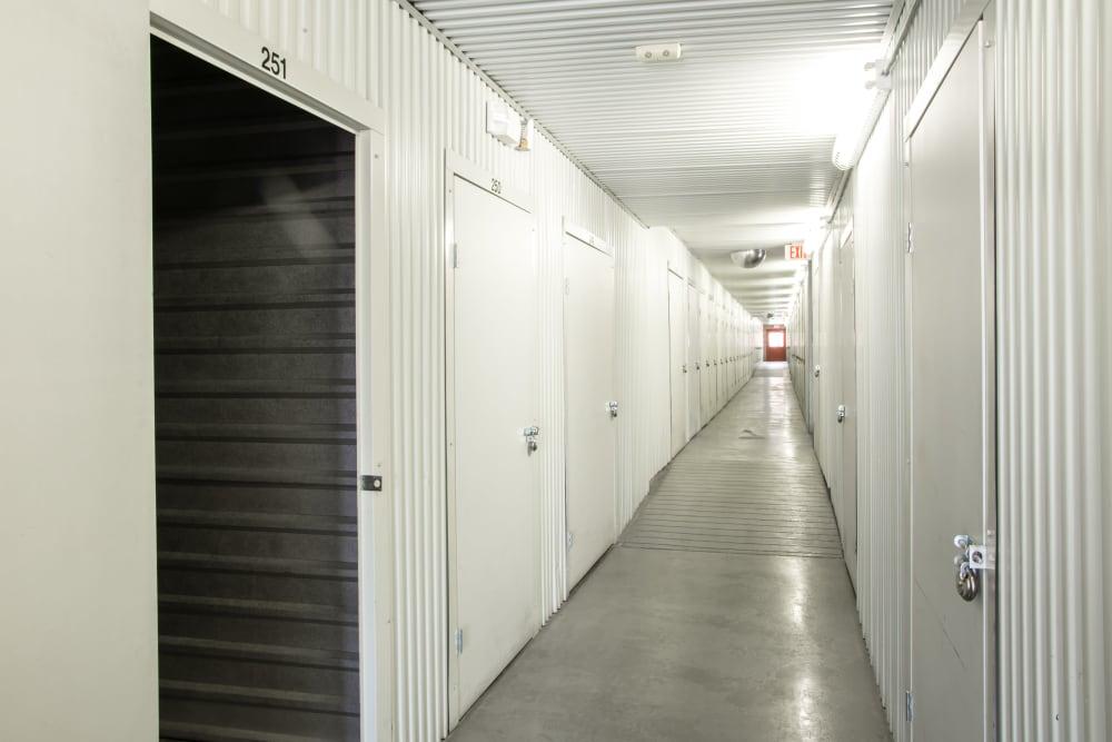 Open indoor units at Metro Self Storage in Amarillo, Texas