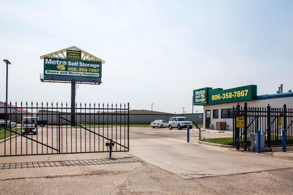 Gated facility at Metro Self Storage in Amarillo, TX