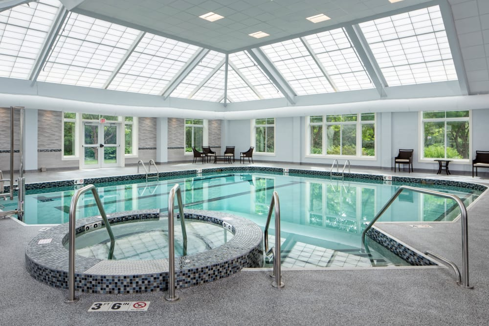 Swimming pool at Maplewood at Mayflower Place in West Yarmouth, Massachusetts