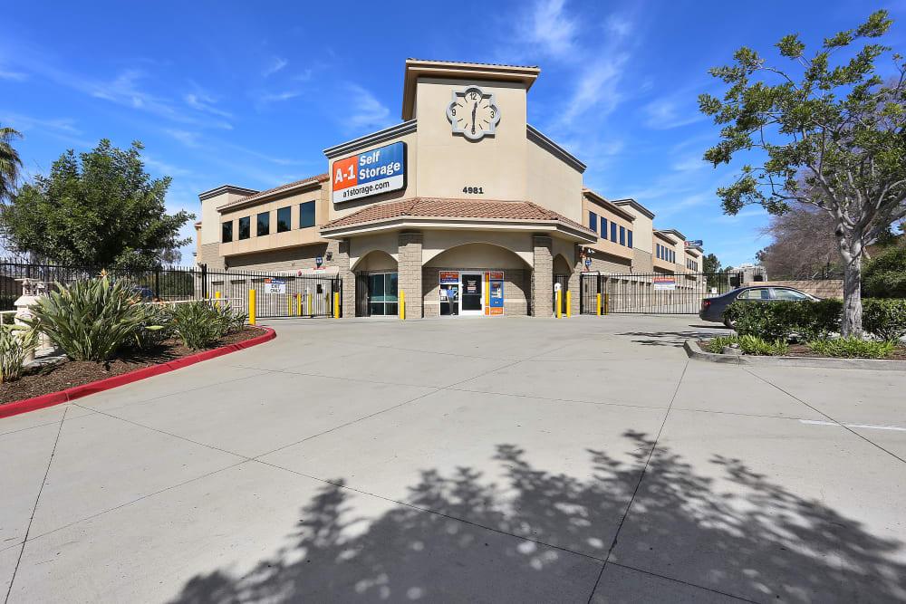 The front entrance to A-1 Self Storage in La Mesa, California
