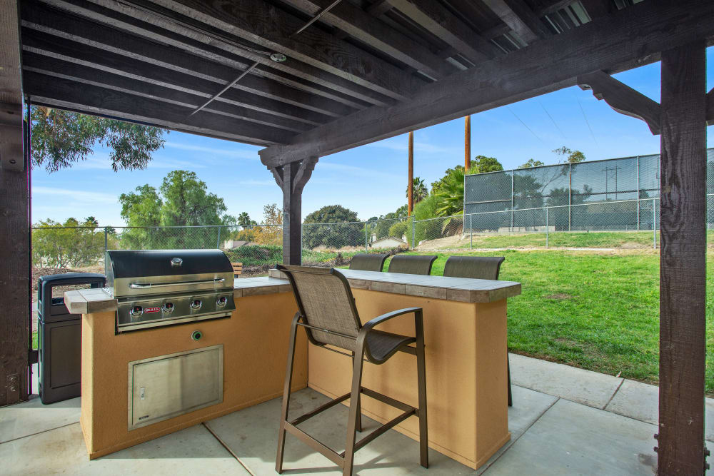 Grilling station at Shadow Ridge Apartments in Oceanside, California