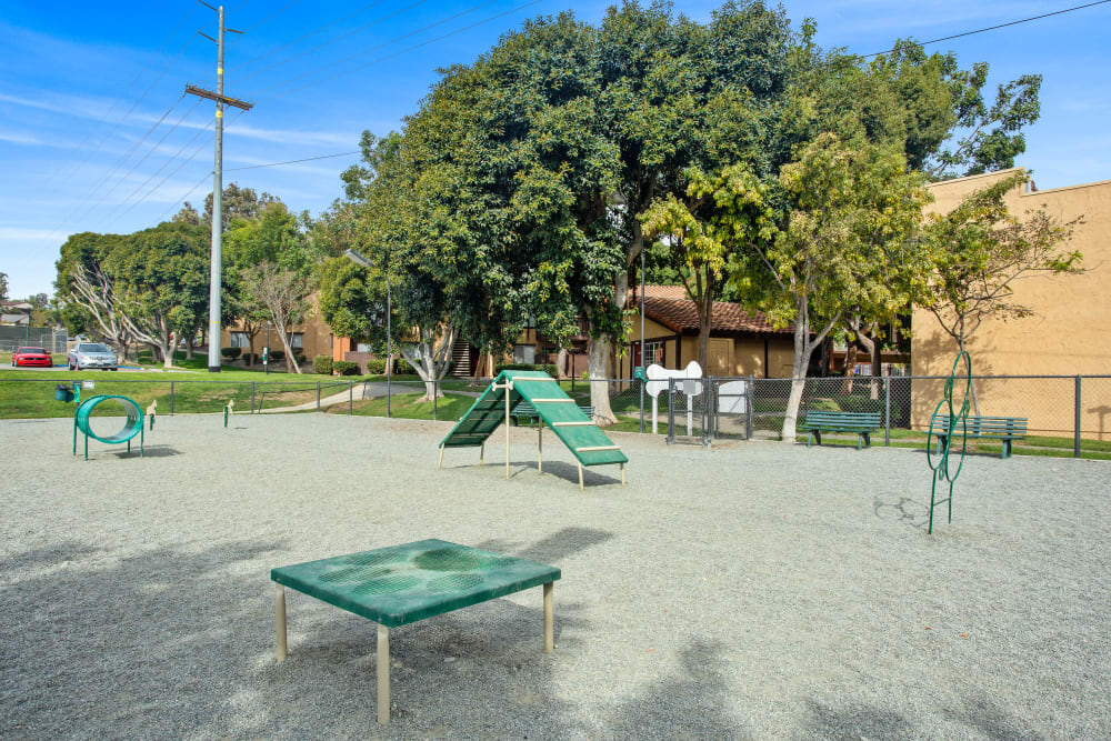 Have fun with your furry friend in the dog park at Shadow Ridge Apartments in Oceanside, California