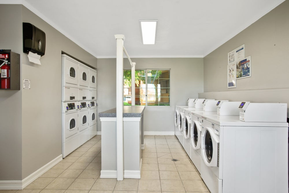 Community laundry facility for resident use at Shadow Ridge Apartments in Oceanside, California