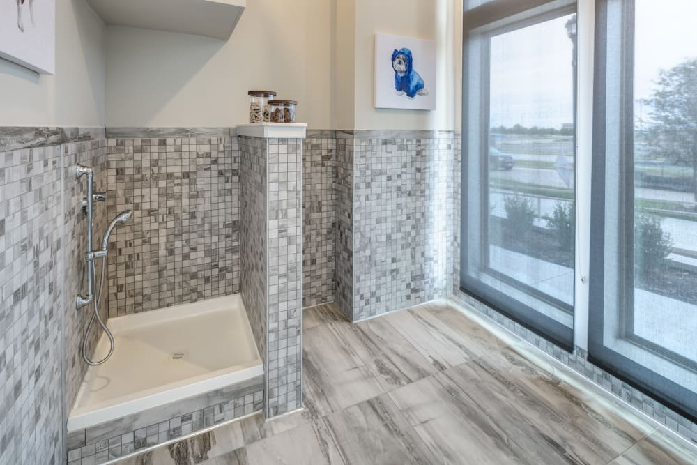 Enjoy apartments with a spacious bathroom at Alta Frisco Square