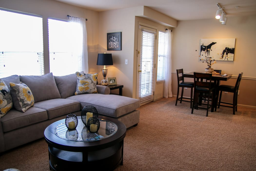 Spacious living room at Winchester Apartments in Amarillo, Texas