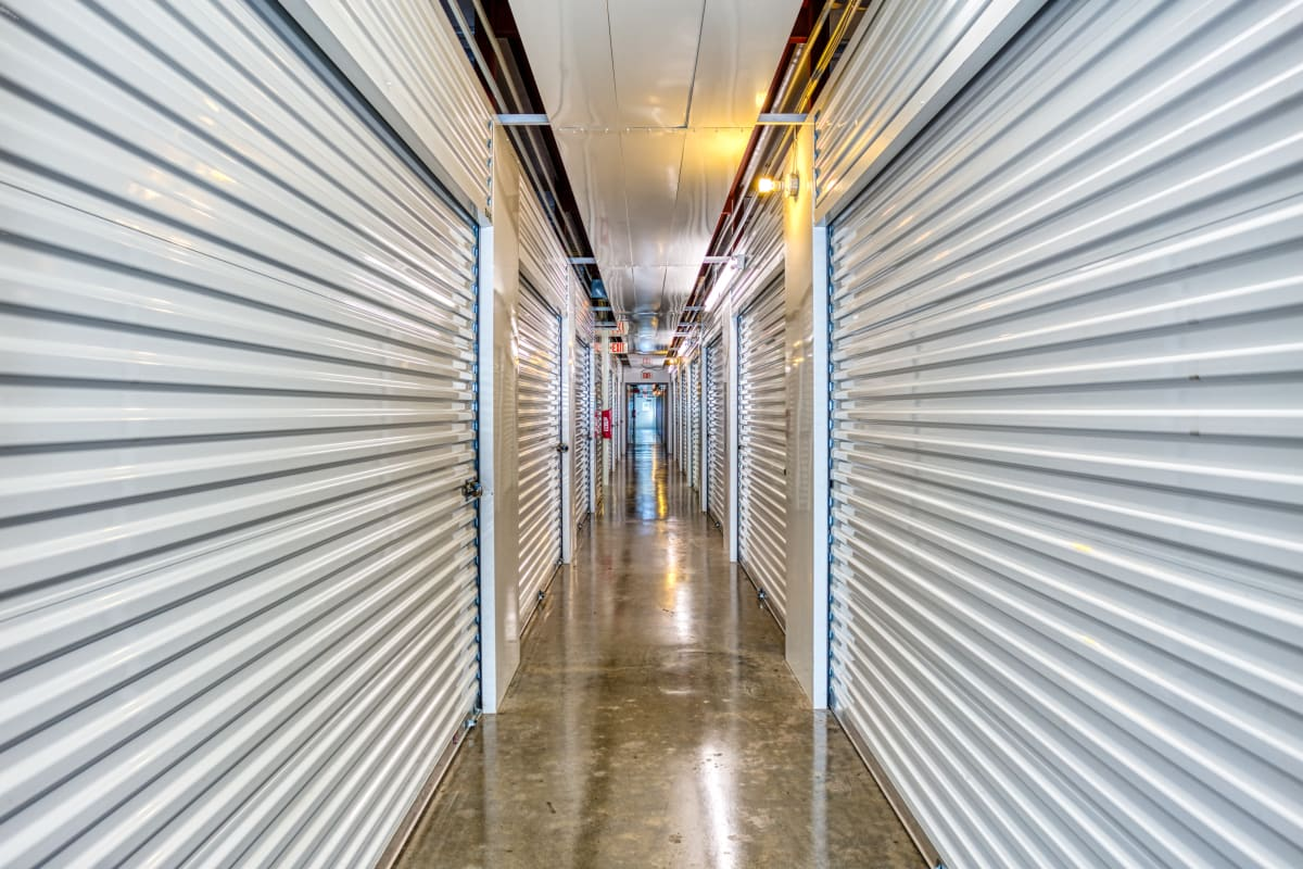 Climate-controlled storage units at Devon Self Storage in Greenville, Texas