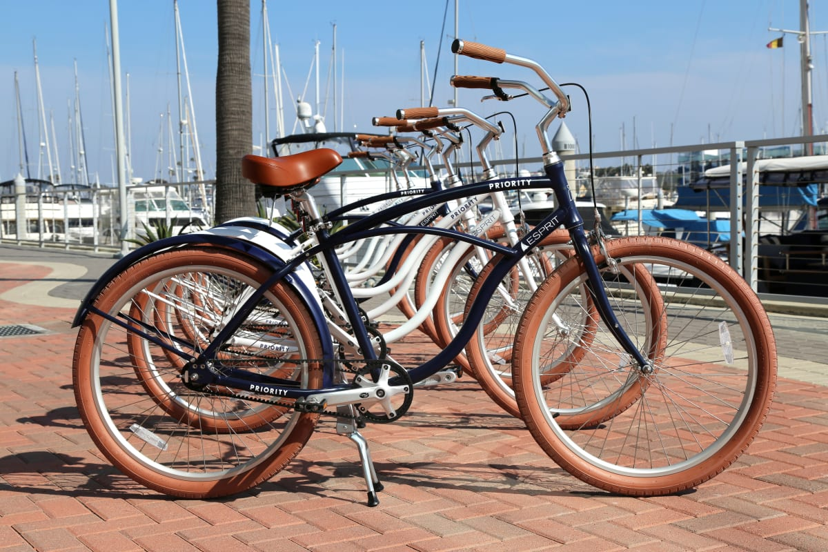Bikes available for resident and guest use at Esprit Marina del Rey in Marina del Rey, California