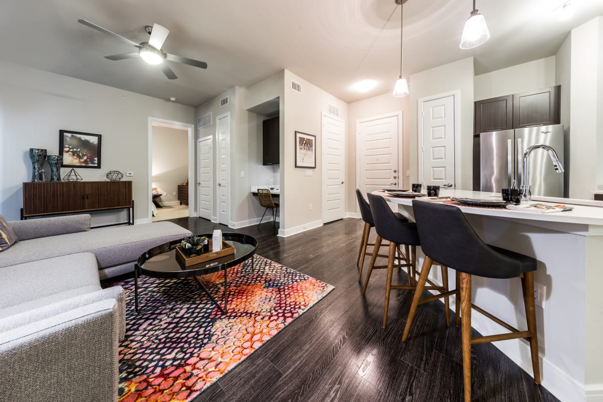 Open, spacious floor plans at Marq 31 in Houston, Texas