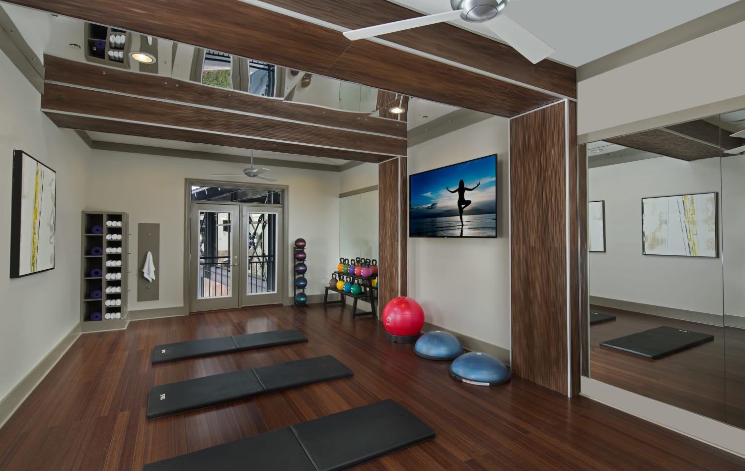 On-site yoga studio at Emory Point