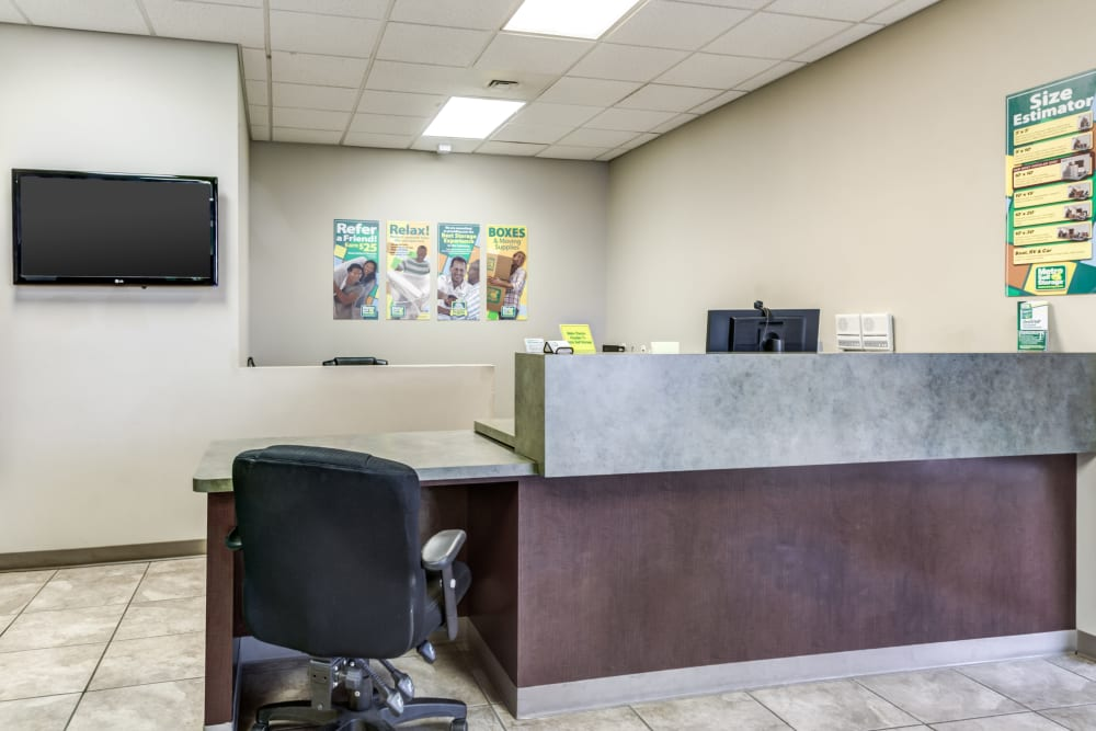 Office interior view at Metro Self Storage in Amarillo, Texas