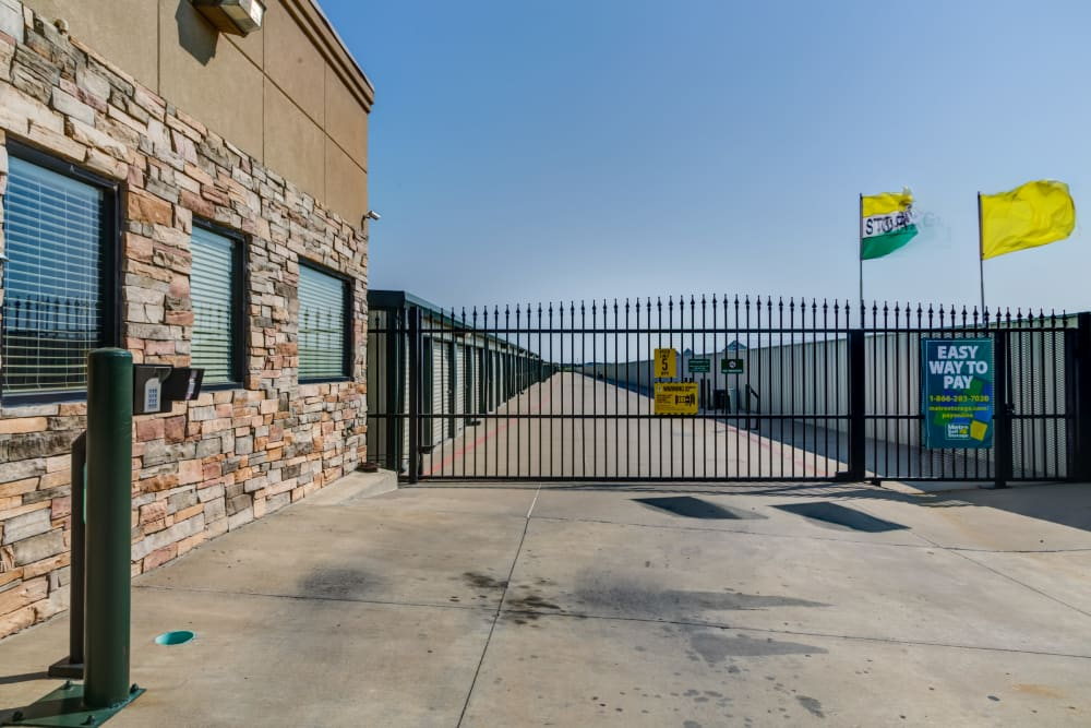 Entrance with security panel at Metro Self Storage in Amarillo, Texas