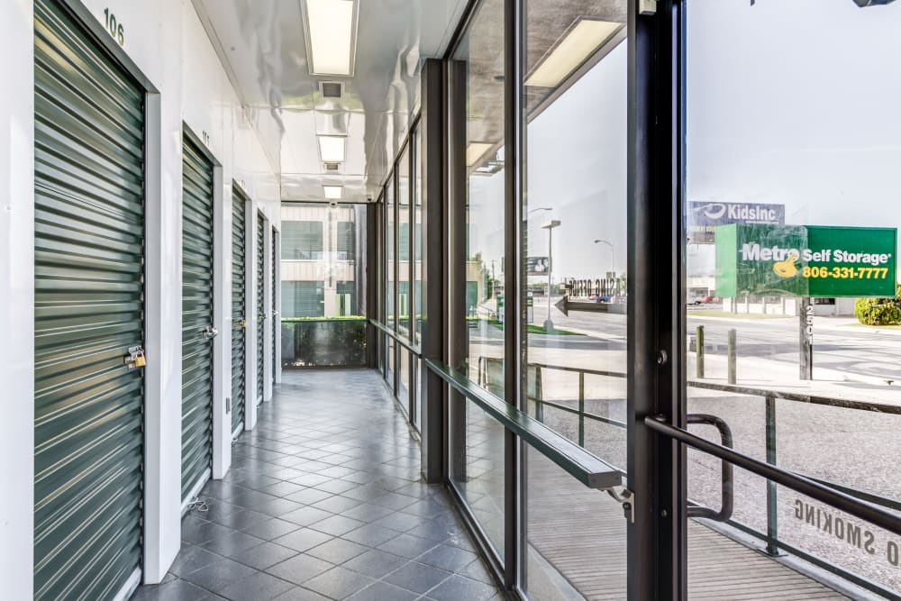 Indoor units with locks at Metro Self Storage in Amarillo, Texas