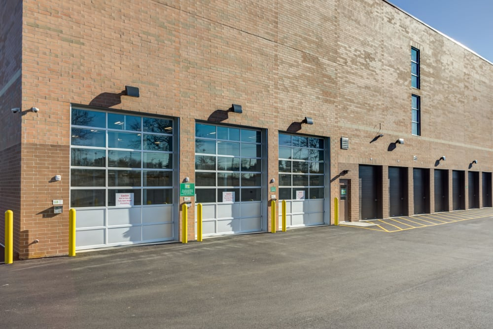 Clean exterior storage units at our self storage facility in Buffalo Grove, Illinois