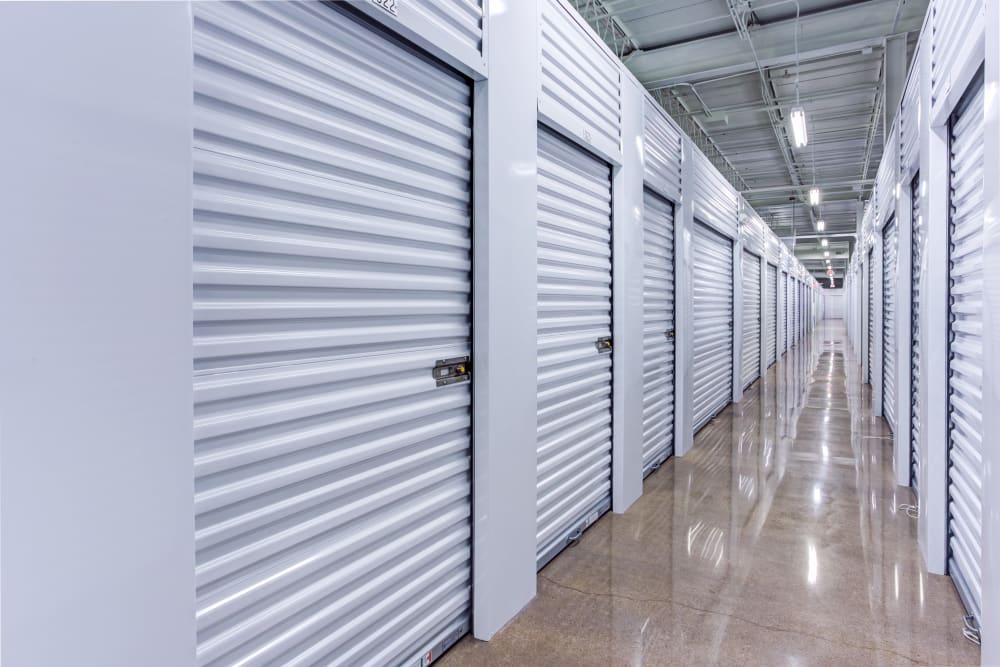 Indoor units hallway at Metro Self Storage in Deerfield, Illinois