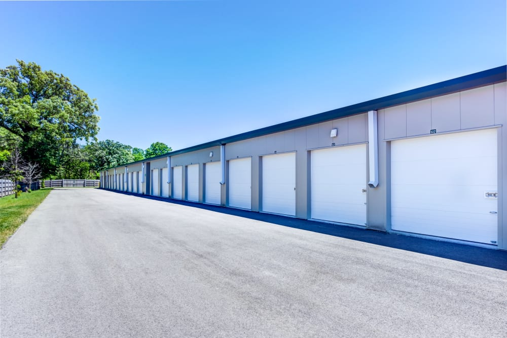 Outdoor units at Metro Self Storage in Deerfield, Illinois