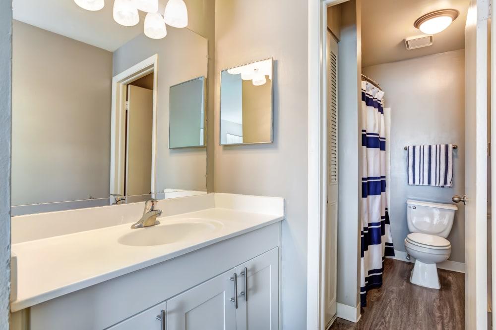 Bathroom at Lakeside Apartments in Wheaton, Illinois