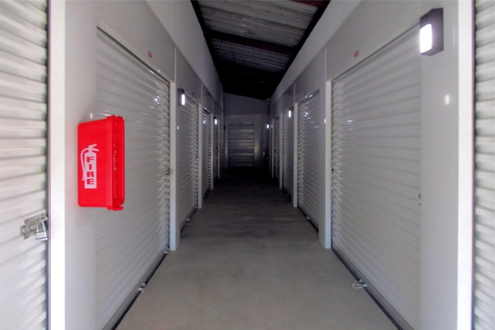 Indoor storage units at Prime Storage in Montpelier, VA