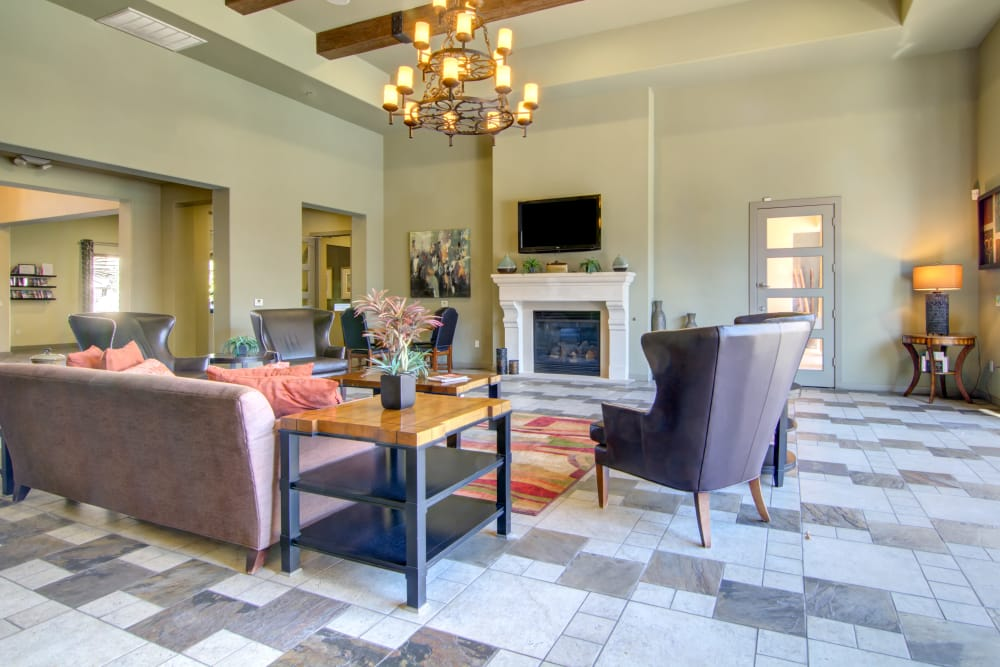 Clubhouse lounge at apartments in Surprise, Arizona
