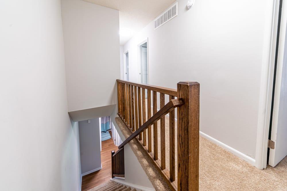 Upstairs hallway in Ramblewood Village Apartments Mount Laurel, New Jersey