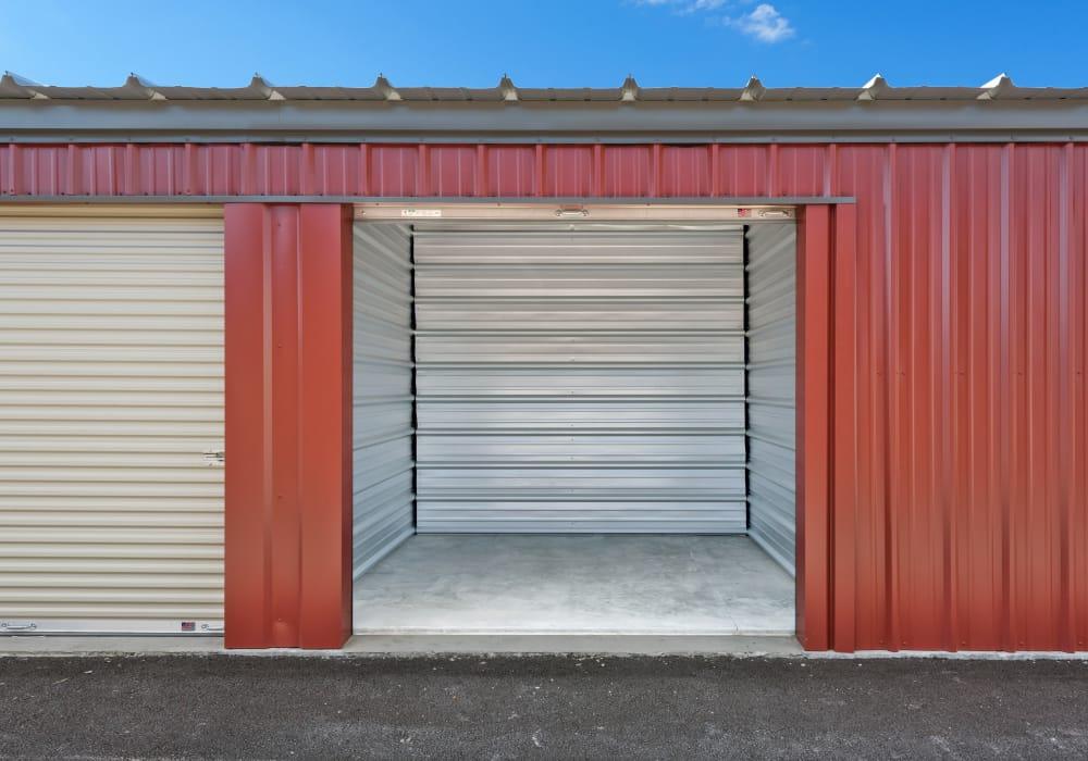 Interior storage units at Summit Self-Storage in Victor, Idaho